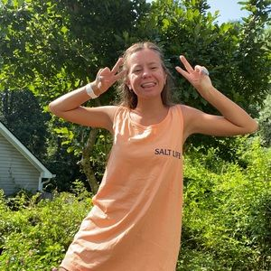 Salt Life Tops - Salt Life Orange Tank Top Sz Large